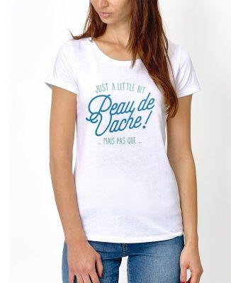 T-shirt Femme Peau de vache Blanc by Charlie's Dreams