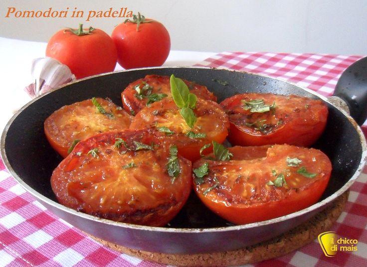 Pomodori in padella (ricetta contorno freddo). Ricetta per un contorno sano e…