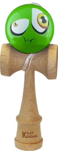 BESTSELLER! Kaleb Kendama With Green Sour Face Ball And Extra String $19.95
