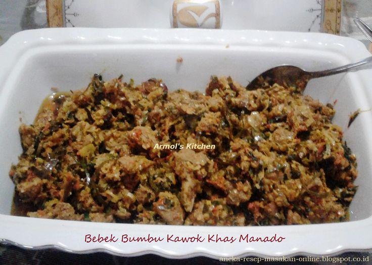 Bebek Bumbu Kawok Khas Manado---- yuk simak resepnya http://aneka-resep-masakan-online.blogspot.co.id/2016/08/resep-bebek-bumbu-kawok-khas-manado.html