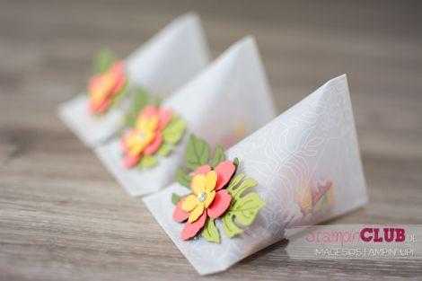 Stampin Up Botanischer Garten Sour Cream Container Batonaical Blooms Framelits Pflanzen-Potpourri
