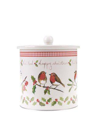 Cooksmart - Plechová vánoční dóza s ptáčky  Dawn Chorus - 1