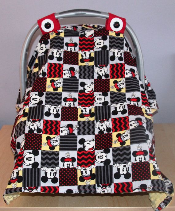 Check out this item in my Etsy shop https://www.etsy.com/listing/219346639/mickey-minnie-mouse-baby-car-seat-canopy