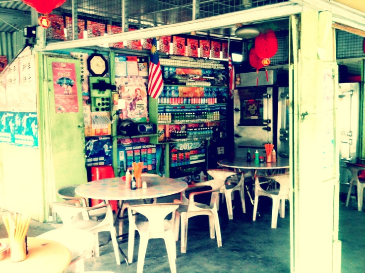 Food stall near some where in Perak state.