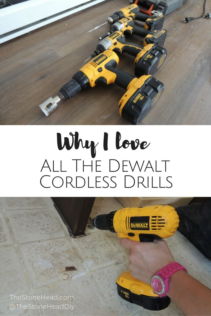 I love one drill in particular but the Dewalt line is amazing! Here's why! #dewalt #drill #review