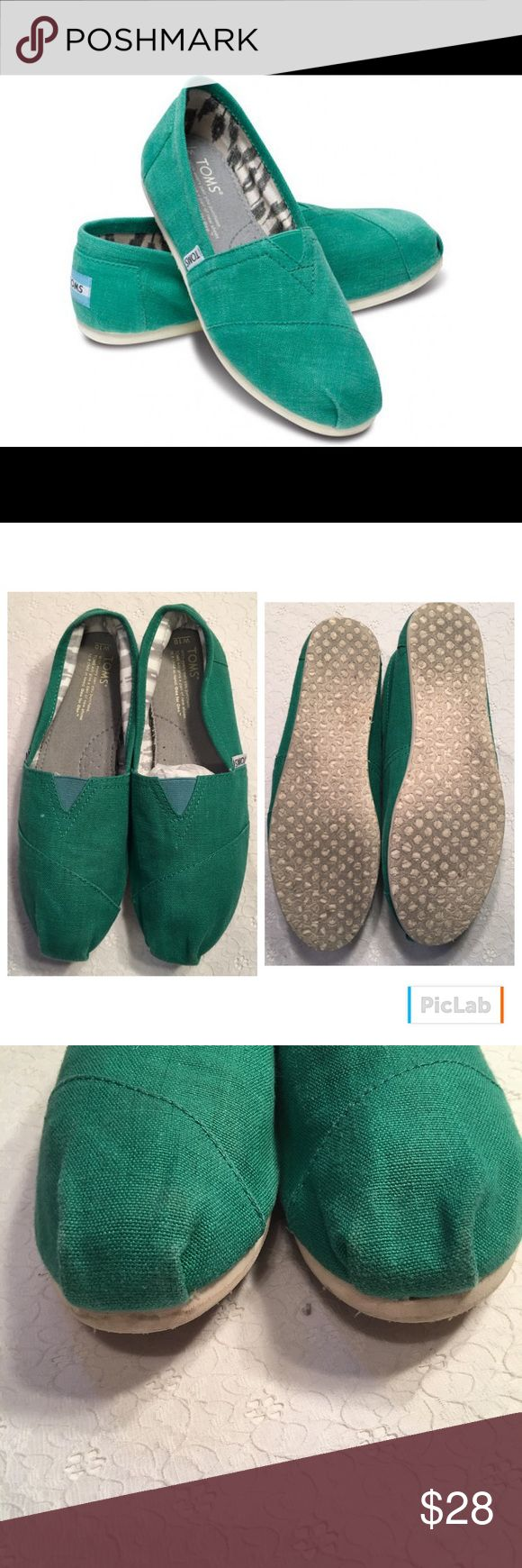 Green Toms Green Toms. Size 10. Great used condition. TOMS Shoes