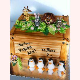 "Детский торт ""Мадагаскар"""