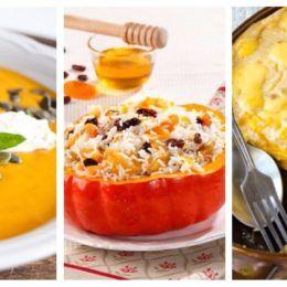 Осень - благодатная пора полезных овощей и фруктов! Предлагаем 15 вкусных и быстрых рецептов для детей из яблок и тыквы!