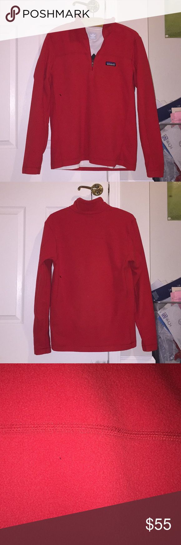 Patagonia 1/4 zip pullover Men's Size small patagonia 1/4 zip pullover, Wore twice very clean 10/10 condition very soft material for sale because it's too small for me Patagonia Sweaters