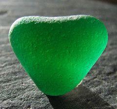 Emerald green seaglass heart   by Denmarkguy
