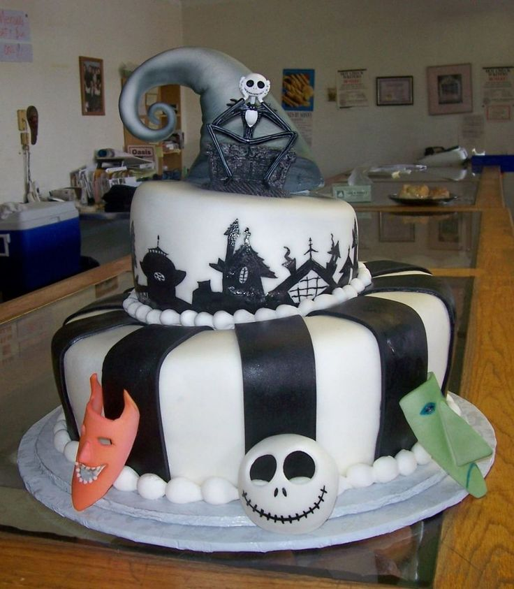 Nightmare Before Christmas Birthday Party: 45 Best Creepy Nightmare Before Christmas Cakes Images On