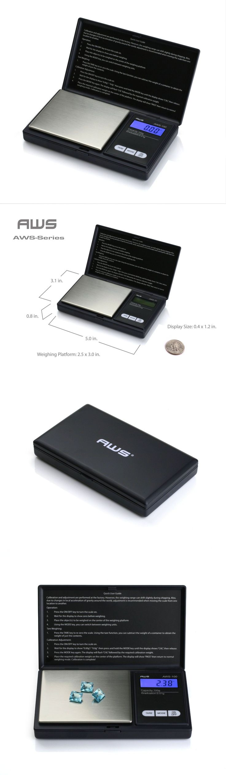 Pocket Digital Scales: Digital Weigh Pocket Scale 0.01-100 G Grams Oz Balance Grains Diamond Gem Postal BUY IT NOW ONLY: $34.95