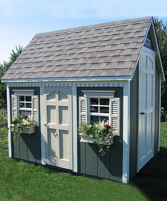 Suncast backyard cottage floored playhouse kit gardens for Outdoor playhouse kit