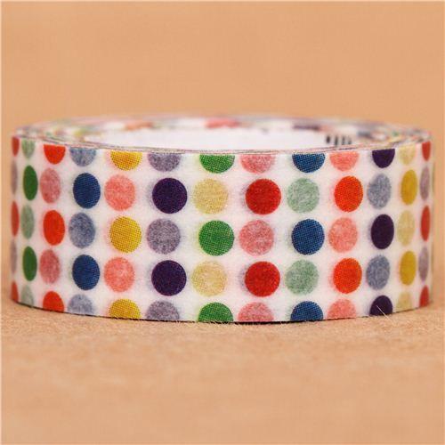 Colorful Polka Dots Mt Washi Masking Tape Deco Tape