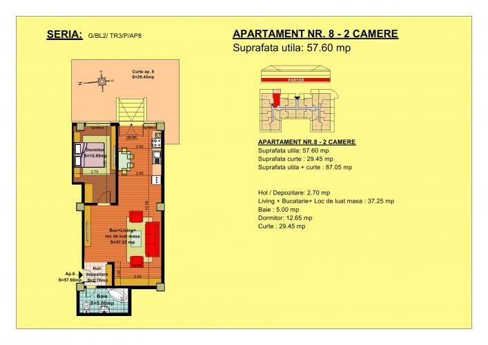 Vand apartament 2 camere, parter, zona Tractorul-Brasov  Situate pe strada Nicolae Labis nr 52, blocurile sunt construite pe un regim de inaltime de P+2 E + Mansarda, cu 2 lifturi si sunt realizate arhitectural cat sa permita acelasi grad de lumina in toate apartamentele.  Acceptam orice forma de plata: Cash, Credit Ipotecar, Prima Casa sau Rate la Dezvoltator.( cu un avans de 10000 euro- 5000 la achizitie si 5000 la mutare, rate de 600 euro, perioada maxi