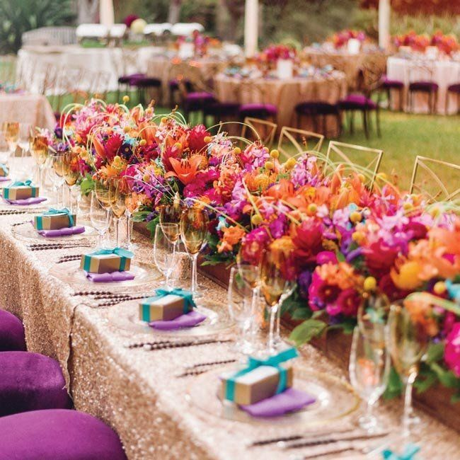 The flowers were star at this outdoor wedding a low