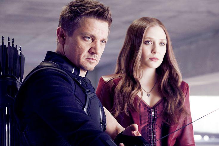 Marvel's Captain America: Civil War Hawkeye / Clint Barton (Jeremy Renner) and Scarlet Witch / Wanda Maximoff (Elizabeth Olsen)