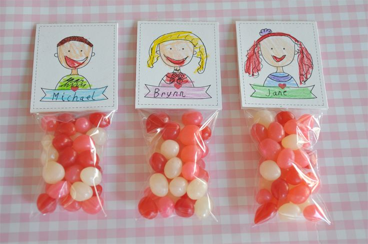A sweet idea, valentineface candy toppers