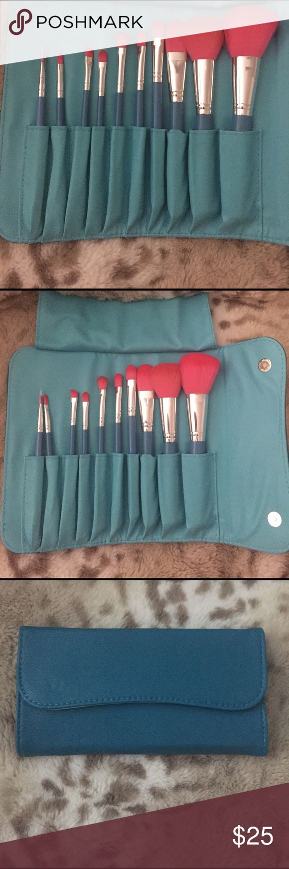🚫Sold🚫Morphe 10 piece vegan set 680 Brand new 10 piece Vegan brush set. These brushes are great for any type of liquid or cream application, but can also be used on powder products for a FLAWLESS application. 100% vegan (non-animal product). Teal with pink bristles ⭐️Price is firm⭐️ morphe Makeup Brushes & Tools