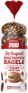 100% Whole Wheat High Protein Bagels by P28 High Protein Bread at Bodybuilding.com - Best Prices on 100% Whole Wheat High Protein Bagels! $25.49
