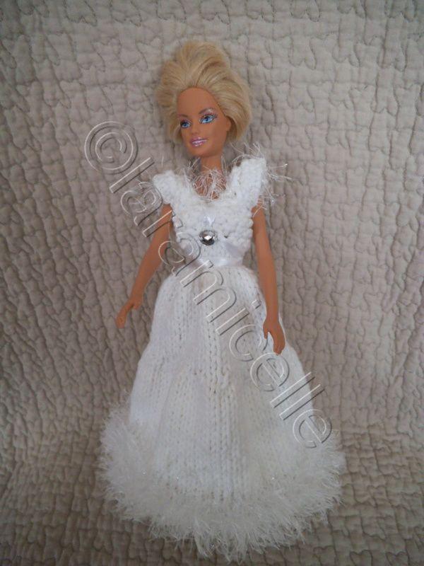 tuto gratuit barbie ; robe Fée blanche