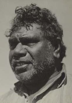 Our most wonderful painter of the central Australian landscape in a european-aboriginal  hybrid style all of his own. Albert Namatjira (1902-1959), by unknown photographer