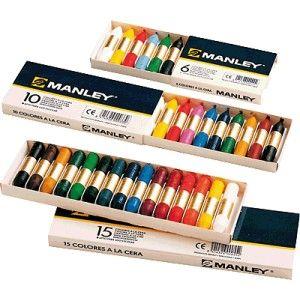 Ceras de colores Manley (estuche de 10 colores)