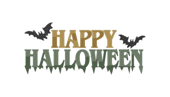 Happy Halloween - Machine Embroidery Design - Instant Download - Three sizes