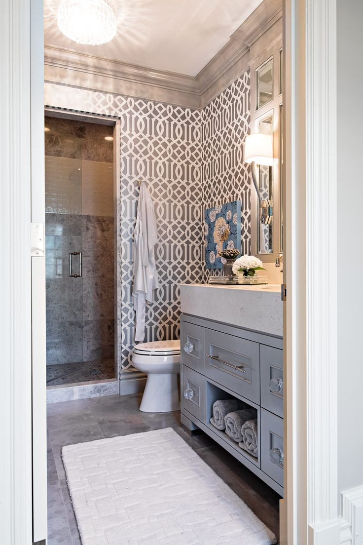 elegant palette u0026 materials in vanity u0026 sink wallpaper u0026 molding by elizabeth kimberly design
