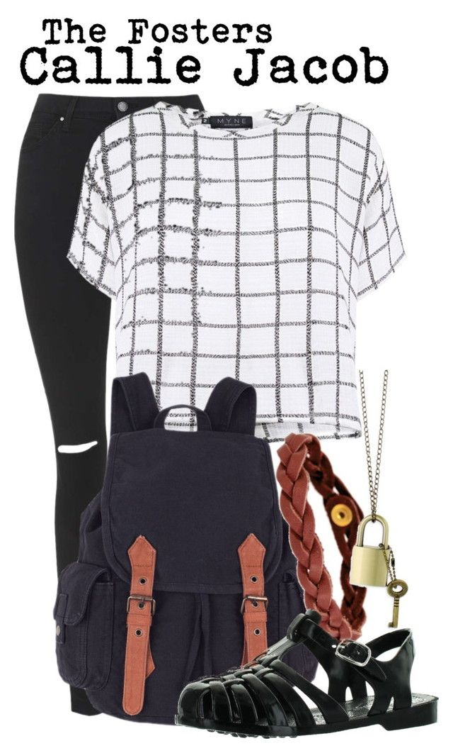 """The Fosters- Callie Jacob"" by darcy-watson ❤ liked on Polyvore featuring Topshop, Myne, Nicole, Z Designs, tvshow, fashionset, TheFosters and calliejacob"