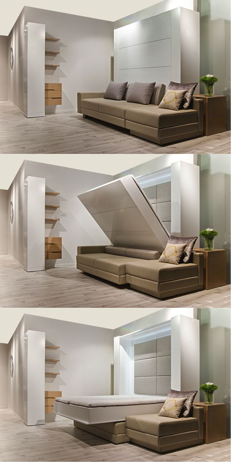 #SleepingWall More Space for #living!!  www.lainliving.com #Folding #Bed, #MurphyBed, #Sofa #Bed, #Compact #living. #Micro #Apartments