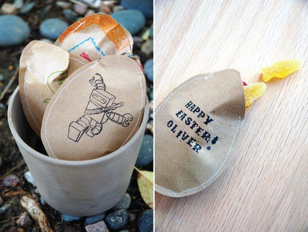 DIY paper bag easter eggs