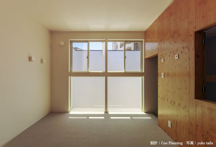 pid4M ダブル取付例 building plan by : cool planning,  photo by : Yuko Tada