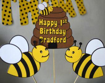 Bumble BEE Decorations THREE Piece CENTERPIECE Honey Bee Party Bug Theme Birthday