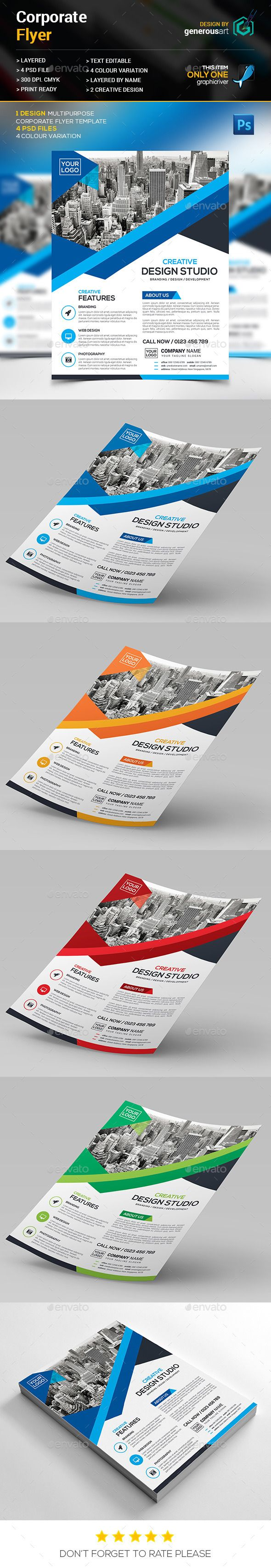 Corporate Flyer Template PSD #design Download: http://graphicriver.net/item/corporate-flyer/13226768?ref=ksioks