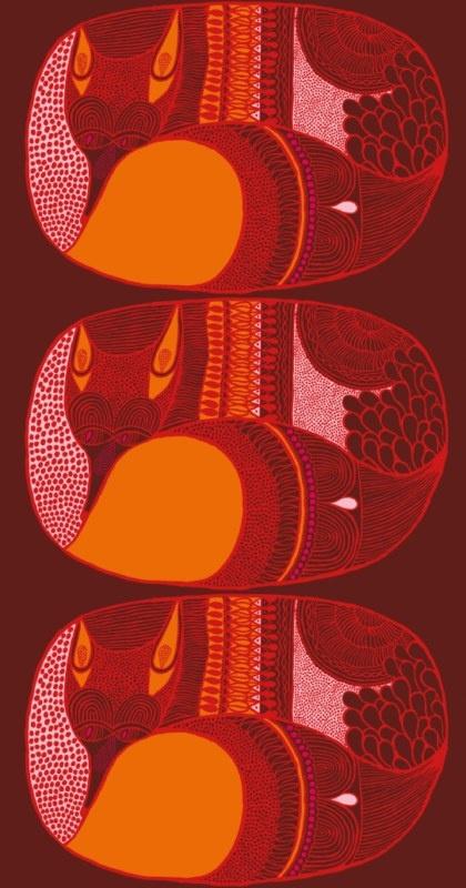 Napakettu Röd, a Marimekko fabric designed by Aino-Maija Metsola.