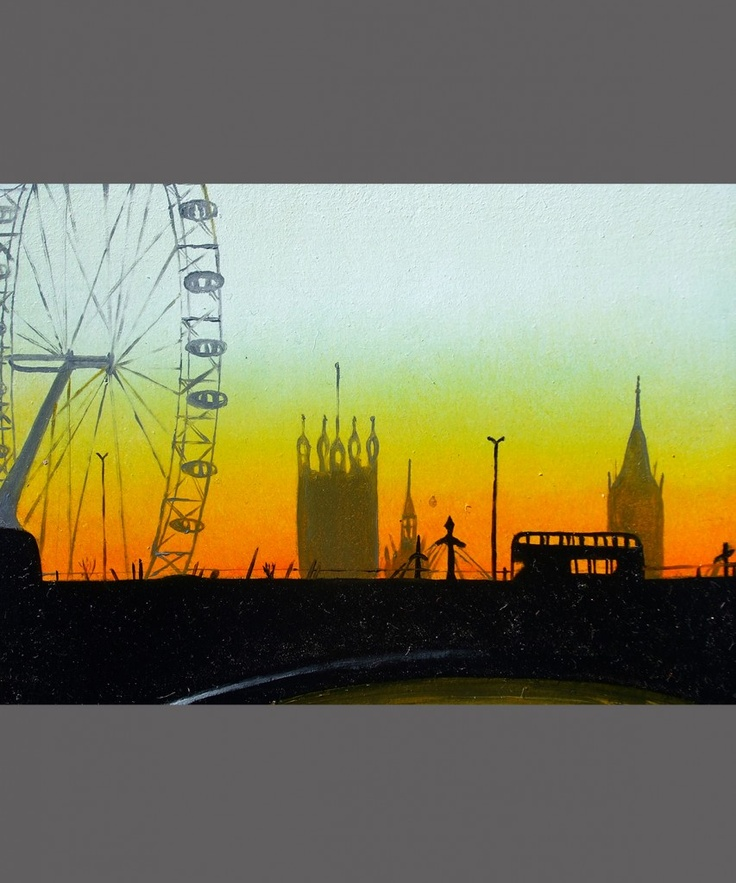 Millennium Bridge in an Emerald Sky by Andrea Tyrimos