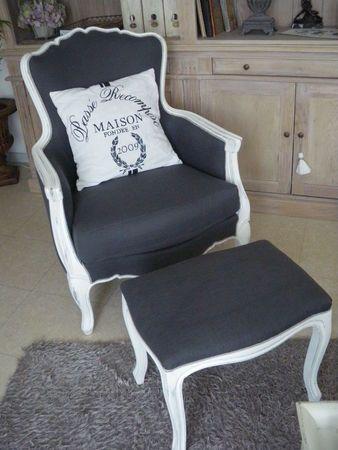 Magnifique fauteuil style Voltaire