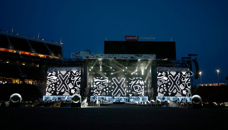 . The stage is set for a One Direction concert at Levi\'s Stadium in Santa Clara, Calif., on Saturday, July 11, 2015. (Jim Gensheimer/Bay Area News Group)