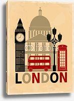 Постер Лондон. Стиль Винтаж