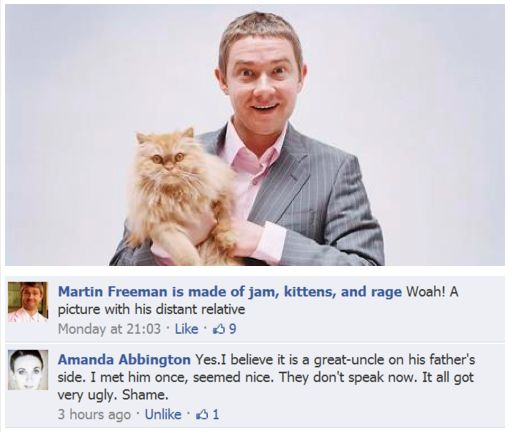 And this is why Amanda Abbington is queen of the fandom! // all I see here is John Watson holding Crookshanks