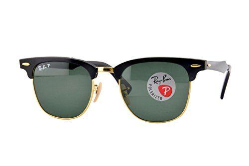 Ray-ban Unisex-Adults Clubmaster Aluminium Sunglasses, Black/Arista, 51mm  Price…