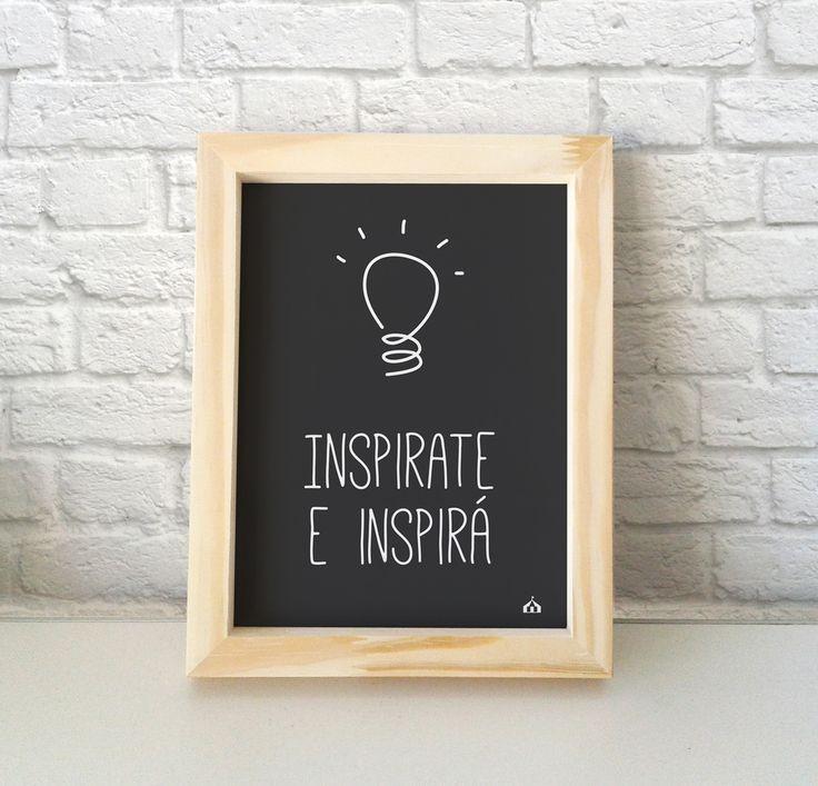 Cuadro con frase Inspirate e inspirá — La Kermesse