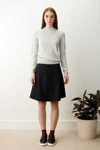 Denise - Pull manches longues gris clair