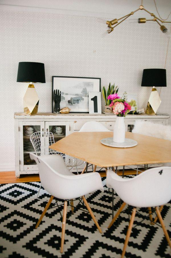 An ode to Eames: http://www.stylemepretty.com/living/2015/03/03/ultimate-dining-chair-roundup/