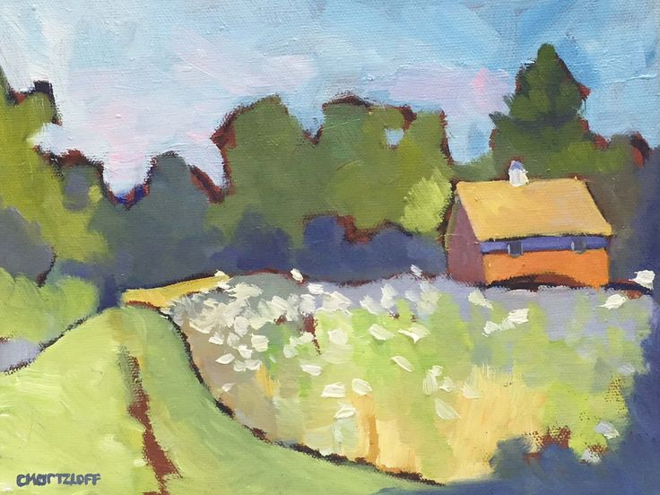 Excited to share the latest addition to my shop: Old Town Farmland  Plein Air Landscape Oil Painting on Canvas #art #OilPaintingCanvases