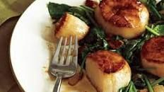 Secret Ingredient — Sauteed Scallops with Mushrooms and Spinach
