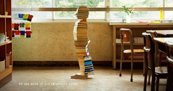 Bibliotecari cercasi, con una campagna pubblicitaria   L'ufficio scolastico di Yokohama, Giappone, ha ingaggiato l'agenzia Dentsu per la campagna Books Make Children, volta a reclutare nuovi bibliotecari.