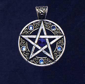 Keltisches Pentagramm, Anhänger - www.amulette-kelten.de