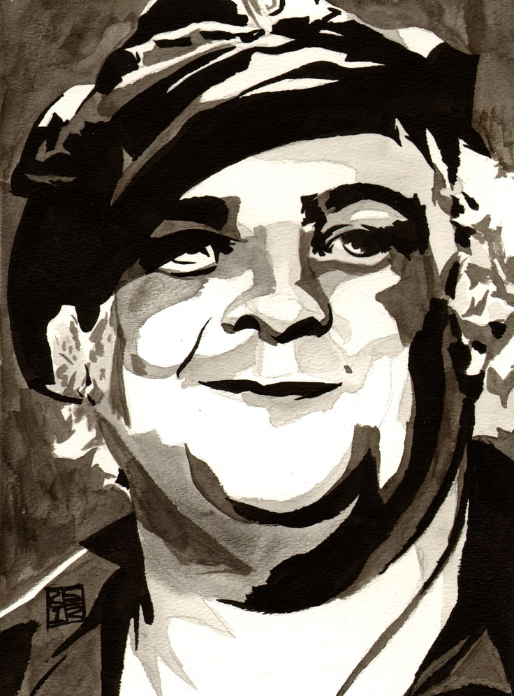 "Dusty Rhodes  l  Ink, ink wash and watercolor on 9"" x 12"" watercolor paper l #WWE"